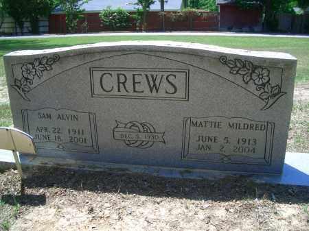 CREWS, MATTIE MILDRED - Sevier County, Arkansas   MATTIE MILDRED CREWS - Arkansas Gravestone Photos