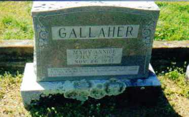GRAVES GALLAHER, MARY ANNICE - Sevier County, Arkansas | MARY ANNICE GRAVES GALLAHER - Arkansas Gravestone Photos