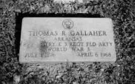 GALLAHER  (VETERAN WWI), THOMAS ROBERT - Sevier County, Arkansas | THOMAS ROBERT GALLAHER  (VETERAN WWI) - Arkansas Gravestone Photos