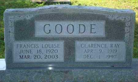 SMALLEY GOODE, FRANCIS LOUISE - Sevier County, Arkansas   FRANCIS LOUISE SMALLEY GOODE - Arkansas Gravestone Photos
