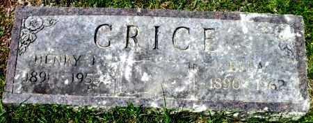 GRICE, HENRY J. - Sevier County, Arkansas | HENRY J. GRICE - Arkansas Gravestone Photos