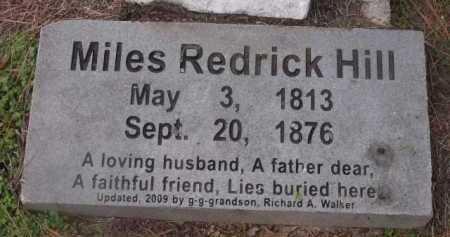 HILL, MILES REDRICK - Sevier County, Arkansas   MILES REDRICK HILL - Arkansas Gravestone Photos