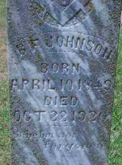 JOHNSON, B F (CLOSEUP) - Sevier County, Arkansas | B F (CLOSEUP) JOHNSON - Arkansas Gravestone Photos