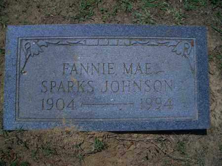 SPARKS JOHNSON, FANNIE MAE - Sevier County, Arkansas | FANNIE MAE SPARKS JOHNSON - Arkansas Gravestone Photos