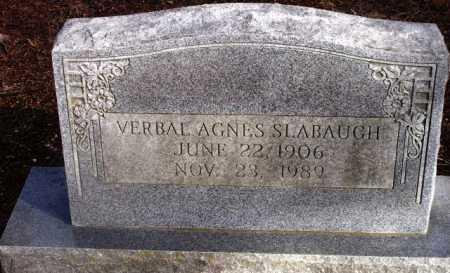 SLABAUGH, VERBAL AGNES - Sevier County, Arkansas | VERBAL AGNES SLABAUGH - Arkansas Gravestone Photos