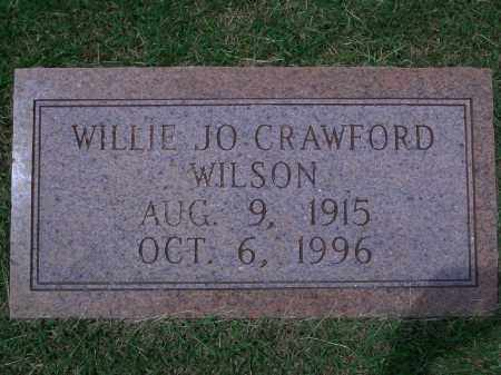 CRAWFORD WILSON, WILLIE JO - Sevier County, Arkansas | WILLIE JO CRAWFORD WILSON - Arkansas Gravestone Photos