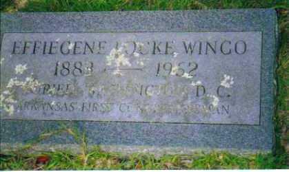 WINGO, EFFIEGENE - Sevier County, Arkansas | EFFIEGENE WINGO - Arkansas Gravestone Photos