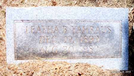 YAHRAUS, LEATHA B - Sevier County, Arkansas | LEATHA B YAHRAUS - Arkansas Gravestone Photos
