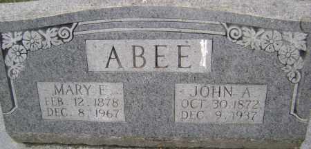 ABEE, MARY ETTA - Sharp County, Arkansas   MARY ETTA ABEE - Arkansas Gravestone Photos