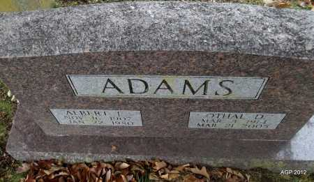 ADAMS, ALBERT F - Sharp County, Arkansas | ALBERT F ADAMS - Arkansas Gravestone Photos
