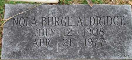 BURGE ALDRIDGE, NOLA - Sharp County, Arkansas | NOLA BURGE ALDRIDGE - Arkansas Gravestone Photos