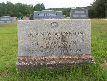 ANDERSON (VETERAN WWI), ARDEN WINFORD - Sharp County, Arkansas   ARDEN WINFORD ANDERSON (VETERAN WWI) - Arkansas Gravestone Photos