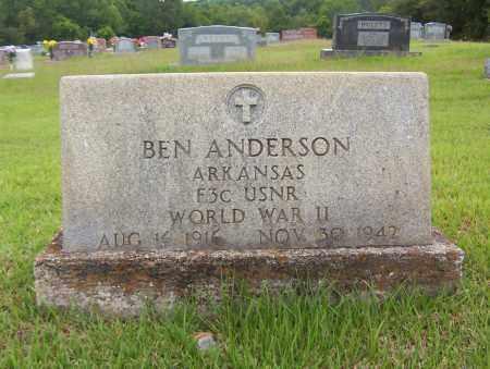 ANDERSON (VETERAN WWII), BEN - Sharp County, Arkansas | BEN ANDERSON (VETERAN WWII) - Arkansas Gravestone Photos