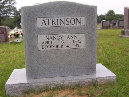 ATKINSON, NANCY ANN - Sharp County, Arkansas | NANCY ANN ATKINSON - Arkansas Gravestone Photos