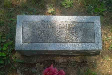 "BAIRD, NANCY ""NAN"" - Sharp County, Arkansas   NANCY ""NAN"" BAIRD - Arkansas Gravestone Photos"