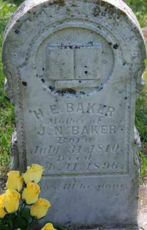 BAKER, H. E. - Sharp County, Arkansas | H. E. BAKER - Arkansas Gravestone Photos
