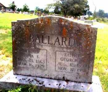 VANCE BALLARD, LENA F. - Sharp County, Arkansas | LENA F. VANCE BALLARD - Arkansas Gravestone Photos