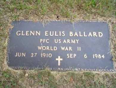 BALLARD (VETERAN WWII), GLENN EULIS - Sharp County, Arkansas   GLENN EULIS BALLARD (VETERAN WWII) - Arkansas Gravestone Photos