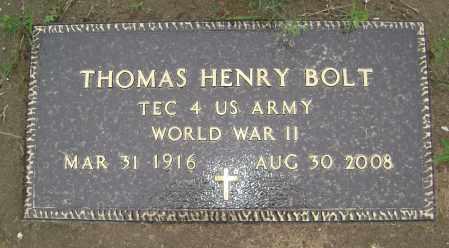 "BOLT (VETERAN WWII), THOMAS HENRY ""TOMMY"" - Sharp County, Arkansas | THOMAS HENRY ""TOMMY"" BOLT (VETERAN WWII) - Arkansas Gravestone Photos"