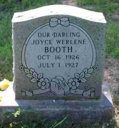 BOOTH, JOYCE WERLENE - Sharp County, Arkansas | JOYCE WERLENE BOOTH - Arkansas Gravestone Photos