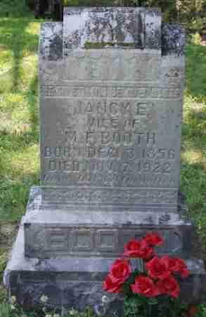 BOOTH, JANCY E. - Sharp County, Arkansas | JANCY E. BOOTH - Arkansas Gravestone Photos