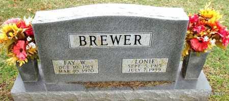 BREWER, LONIE - Sharp County, Arkansas | LONIE BREWER - Arkansas Gravestone Photos