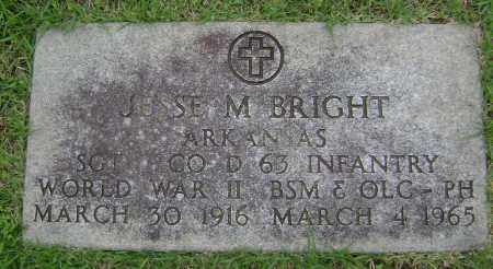 BRIGHT (VETERAN WWII), JESSE MARION - Sharp County, Arkansas | JESSE MARION BRIGHT (VETERAN WWII) - Arkansas Gravestone Photos