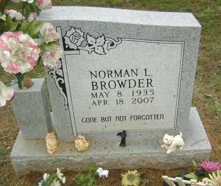 BROWDER, NORMAN L - Sharp County, Arkansas   NORMAN L BROWDER - Arkansas Gravestone Photos