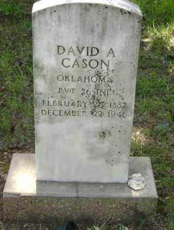 CASON (VETERAN WWI), DAVID ARTHUR - Sharp County, Arkansas   DAVID ARTHUR CASON (VETERAN WWI) - Arkansas Gravestone Photos