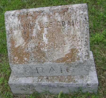 CRAIG, MINNIE LEE - Sharp County, Arkansas   MINNIE LEE CRAIG - Arkansas Gravestone Photos
