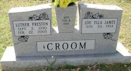 CROOM, LUTHER PRESTON - Sharp County, Arkansas | LUTHER PRESTON CROOM - Arkansas Gravestone Photos