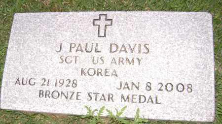DAVIS (VETERAN KOR), J PAUL - Sharp County, Arkansas | J PAUL DAVIS (VETERAN KOR) - Arkansas Gravestone Photos