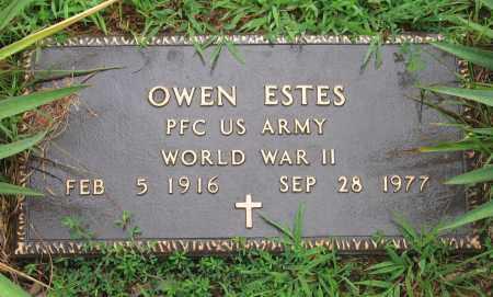 ESTES (VETERAN WWII), OWEN - Sharp County, Arkansas | OWEN ESTES (VETERAN WWII) - Arkansas Gravestone Photos
