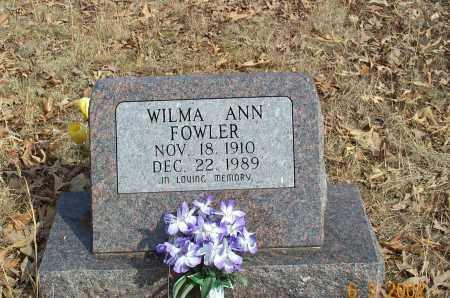 FOWLER, WILMA ANN - Sharp County, Arkansas | WILMA ANN FOWLER - Arkansas Gravestone Photos