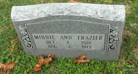 FRAZIER, MINNIE ANN - Sharp County, Arkansas   MINNIE ANN FRAZIER - Arkansas Gravestone Photos