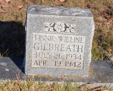 GILBREATH, TINNIE WILLINE - Sharp County, Arkansas   TINNIE WILLINE GILBREATH - Arkansas Gravestone Photos