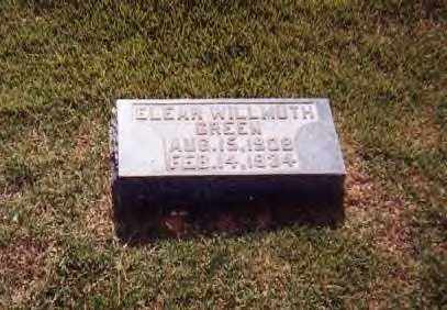 WILLMUTH GREEN, ELEAR - Sharp County, Arkansas | ELEAR WILLMUTH GREEN - Arkansas Gravestone Photos