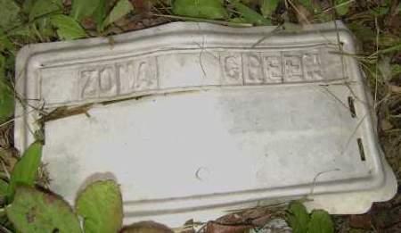 GREEN, ZONA - Sharp County, Arkansas | ZONA GREEN - Arkansas Gravestone Photos