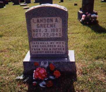GREENE, LANDON A, - Sharp County, Arkansas | LANDON A, GREENE - Arkansas Gravestone Photos