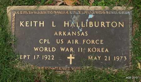 HALLIBURTON (VETERAN 2 WARS), KEITH L - Sharp County, Arkansas | KEITH L HALLIBURTON (VETERAN 2 WARS) - Arkansas Gravestone Photos