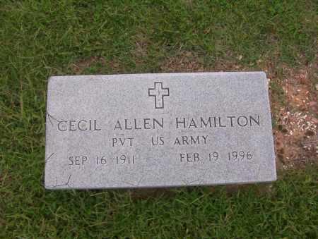 HAMILTON (VETERAN), CECIL ALLEN - Sharp County, Arkansas | CECIL ALLEN HAMILTON (VETERAN) - Arkansas Gravestone Photos