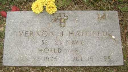 HATFIELD (VETERAN WWII), VERNON J - Sharp County, Arkansas | VERNON J HATFIELD (VETERAN WWII) - Arkansas Gravestone Photos