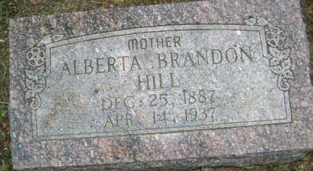BRANDON HILL, ALBERTA - Sharp County, Arkansas | ALBERTA BRANDON HILL - Arkansas Gravestone Photos