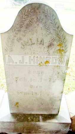 ROGERS HINSON, JULIA F - Sharp County, Arkansas | JULIA F ROGERS HINSON - Arkansas Gravestone Photos