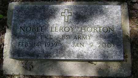 HORTON (VETERAN WWII), NOBLE LEROY - Sharp County, Arkansas   NOBLE LEROY HORTON (VETERAN WWII) - Arkansas Gravestone Photos
