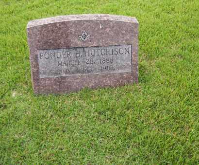HUTCHISON, PONDER HARRISON - Sharp County, Arkansas | PONDER HARRISON HUTCHISON - Arkansas Gravestone Photos