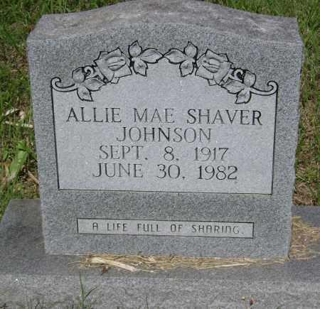 JOHNSON, ALLIE MAE - Sharp County, Arkansas | ALLIE MAE JOHNSON - Arkansas Gravestone Photos