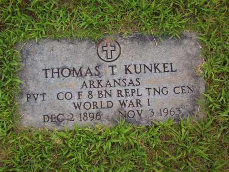 KUNKEL (VETERAN WWI), THOMAS T - Sharp County, Arkansas   THOMAS T KUNKEL (VETERAN WWI) - Arkansas Gravestone Photos