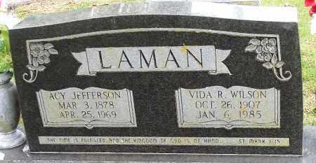 "LAMAN, ASA ""ACY"" JEFFERSON - Sharp County, Arkansas | ASA ""ACY"" JEFFERSON LAMAN - Arkansas Gravestone Photos"