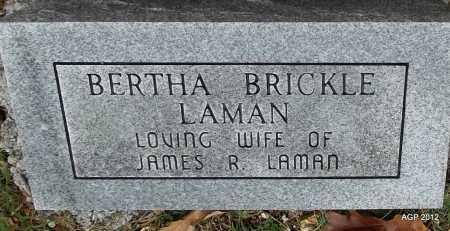 LAMAN, BERTHA - Sharp County, Arkansas | BERTHA LAMAN - Arkansas Gravestone Photos